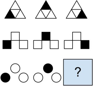 A simple example of a matrix puzzle. Source: Matrix Reasoning Challenge